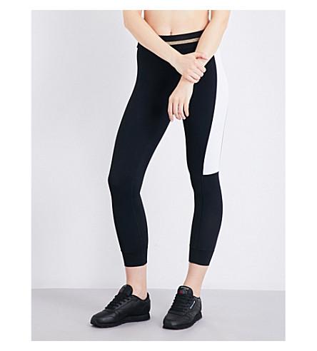 P.E NATION Side Line stretch-jersey leggings (Black