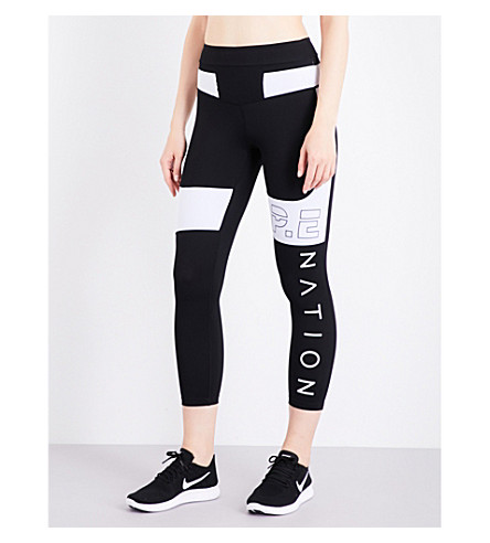 P.E NATION Roll Out stretch-jersey leggings (Black