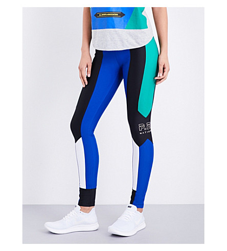P.E NATION Riseball stretch-jersey leggings (Multi