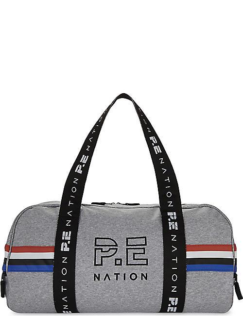 PE NATION Logo Canvas Barrel Bag