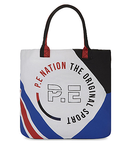 P.E NATION Logo canvas tote (Multi
