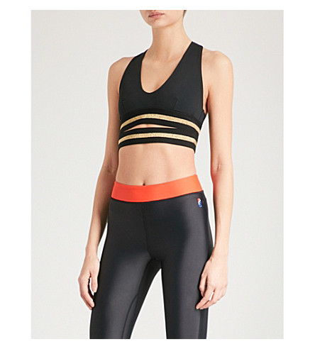 P.E NATION Full Toss stretch-jersey sports bra (Black