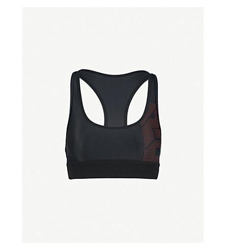 P.E NATION The Countdown Crop stretch sports bra (Black