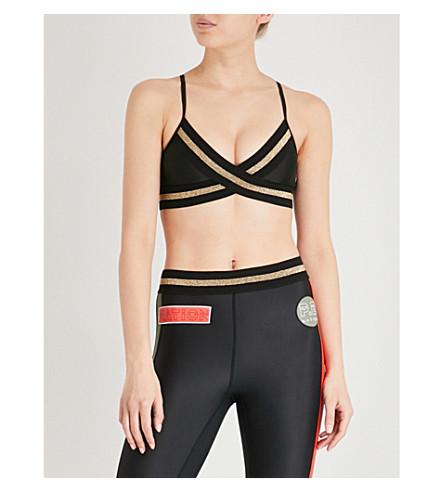 P.E NATION Touchdown stretch-jersey sports bra (Black