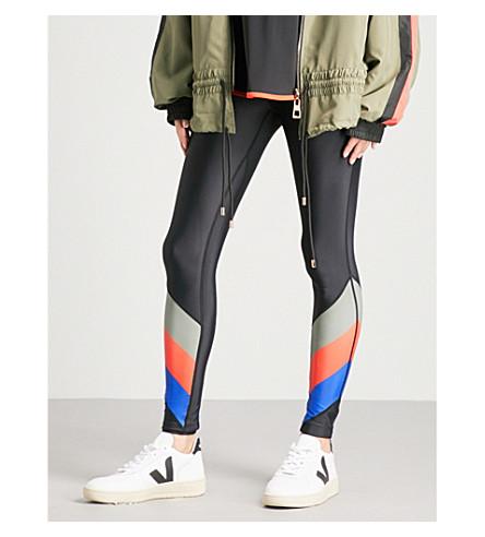 P.E NATION First Gen stretch-jersey leggings (Multi+khaki