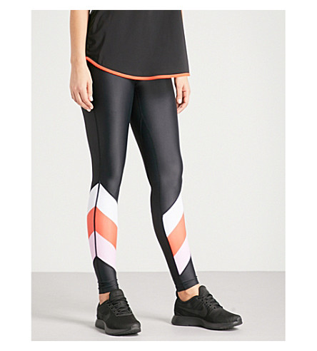 P.E NATION First Gen stretch-jersey leggings (Multi pink
