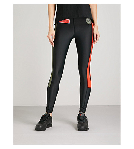 P.E NATION On Deck stretch leggings (Black