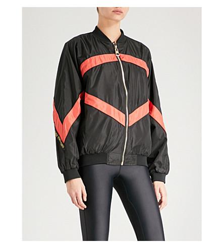 P.E NATION Powerhouse reversible shell bomber jacket (Black+and+khaki