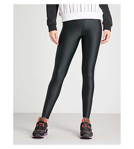 P.E NATION Brawler logo-print stretch leggings (Black