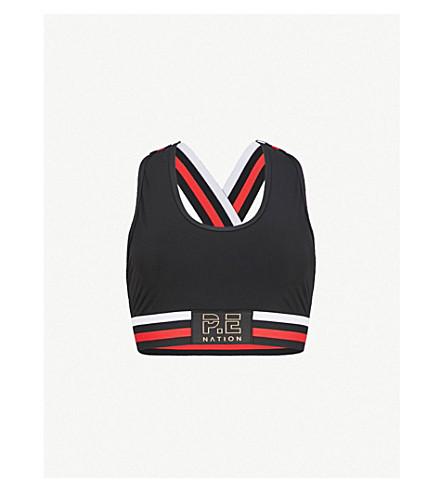 P.E NATION Speedway stretch-jersey sports bra (Black