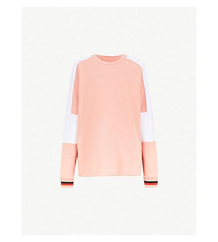 P.E NATION 阿里拳击手平纹针织棉卫衣 (粉彩 + 粉红色