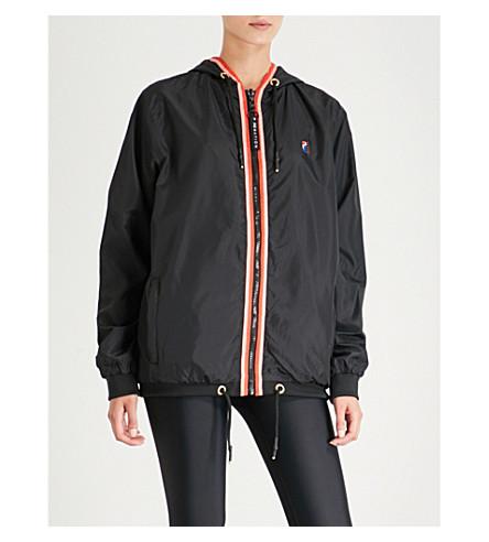 P.E NATION Steeple Chase reversible shell jacket (Print