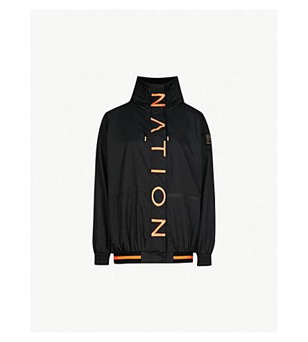 P.E NATION 从块软壳面料夹克 (黑/橙