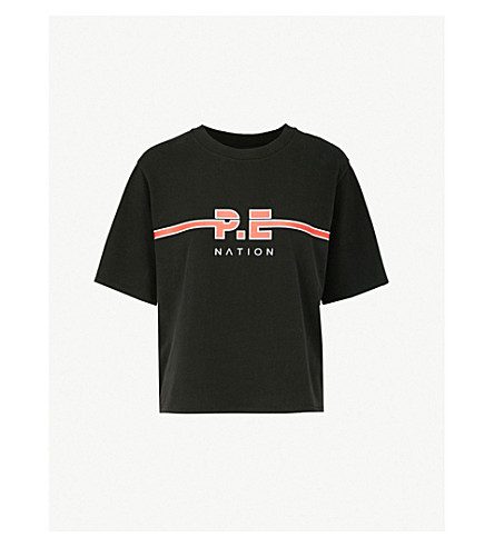 P.E NATION Dartford cotton-jersey T-shirt (Black