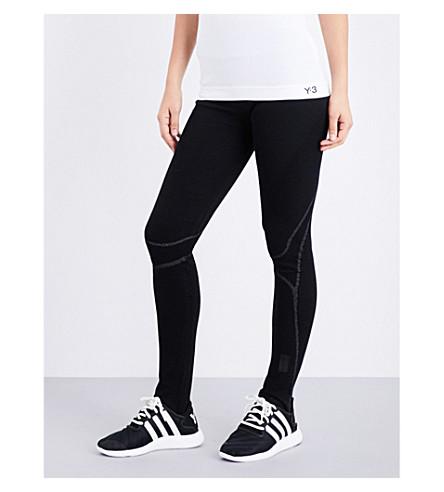 Y3 Fine knitted leggings (Black