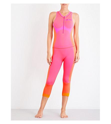 ADIDAS BY STELLA MCCARTNEY Yoga seamless leotard (Shock+pink/radiant+org
