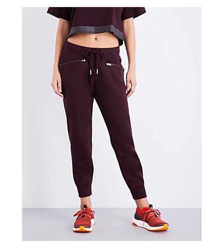 ADIDAS BY STELLA MCCARTNEY Essential jersey jogging bottoms (Dark+burgundy