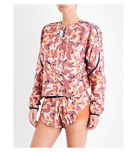 ADIDAS BY STELLA MCCARTNEY Run camouflage-print shell jacket (Clay+red/desert+rose