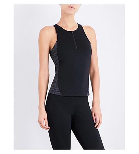 ADIDAS BY STELLA MCCARTNEY Run Leo stretch-jersey top (Black