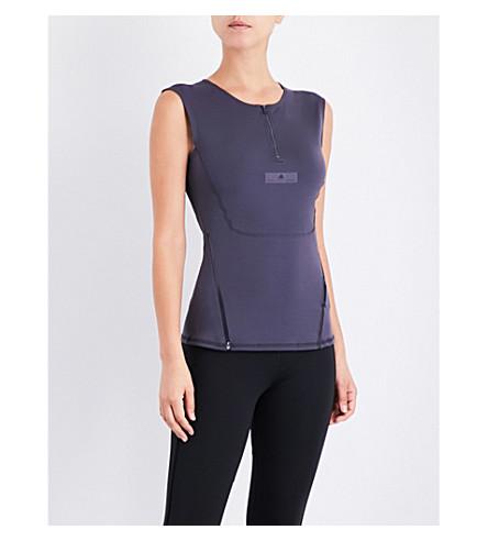 ADIDAS BY STELLA MCCARTNEY Run Clima sleeveless top (Night+steel