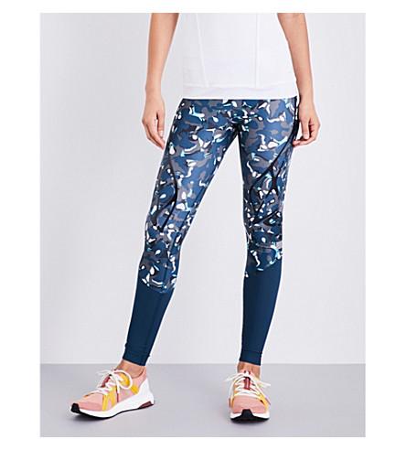 ADIDAS BY STELLA MCCARTNEY Sprintweb stretch-jersey leggings (Vista+grey/dark+petrol
