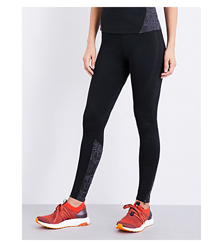 ADIDAS BY STELLA MCCARTNEY Run Leo stretch-jersey leggings (Black