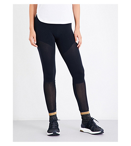 ADIDAS BY STELLA MCCARTNEY Run high-rise stretch-jersey leggings (Legend+blue