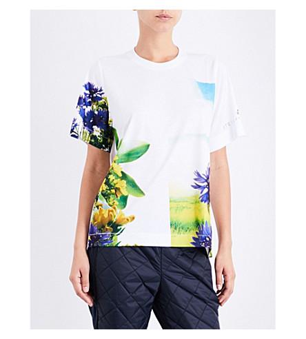 ADIDAS BY STELLA MCCARTNEY Essentials Nature-print jersey T-shirt (White