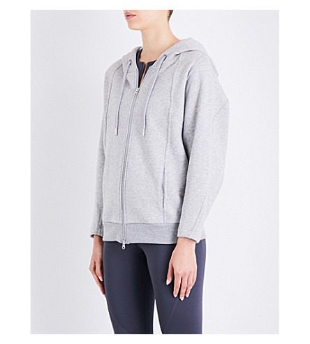 ADIDAS BY STELLA MCCARTNEY Essentials cotton-fleece hoodie (Medium+grey+heather
