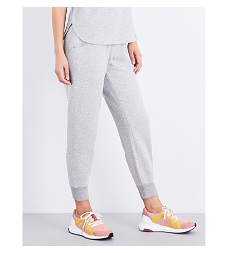 ADIDAS BY STELLA MCCARTNEY Essential jersey jogging bottoms (Medium+grey+heather
