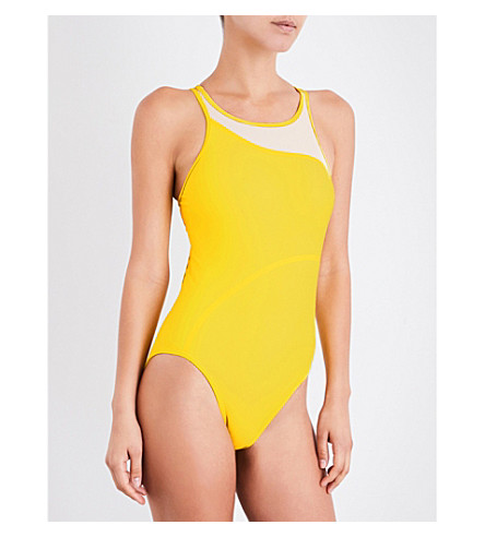ADIDAS BY STELLA MCCARTNEY Train racerback swimsuit (Super+yellow/pearl+rose
