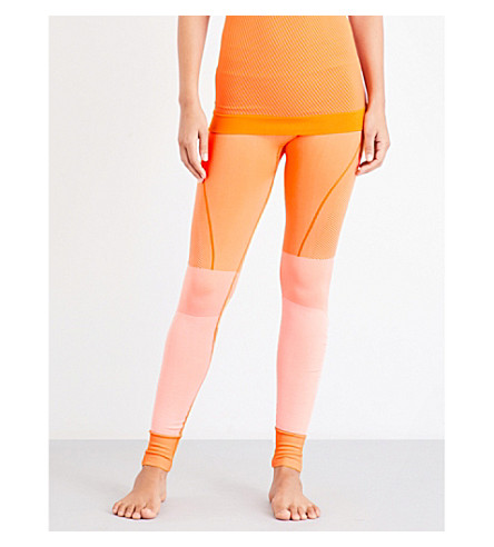 ADIDAS BY STELLA MCCARTNEY Yoga high-rise knitted leggings (Lucky+orange