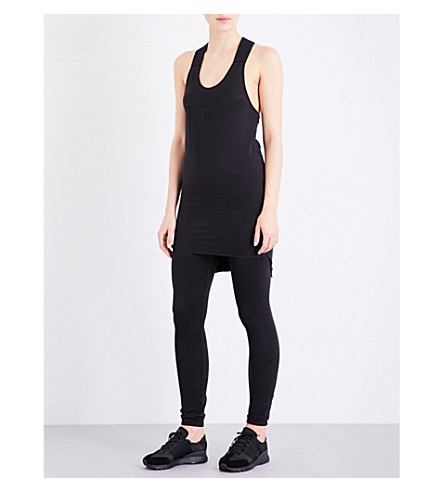Y-3 SPORT Fine-knit knitted sleeveless top (Black