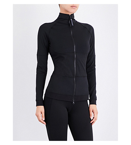 ADIDAS BY STELLA MCCARTNEY High-neck crepe training jacket (Black