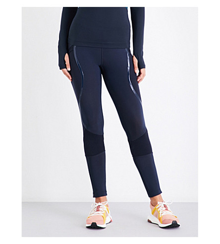 ADIDAS BY STELLA MCCARTNEY Training Warpknit stretch-jersey leggings (Black
