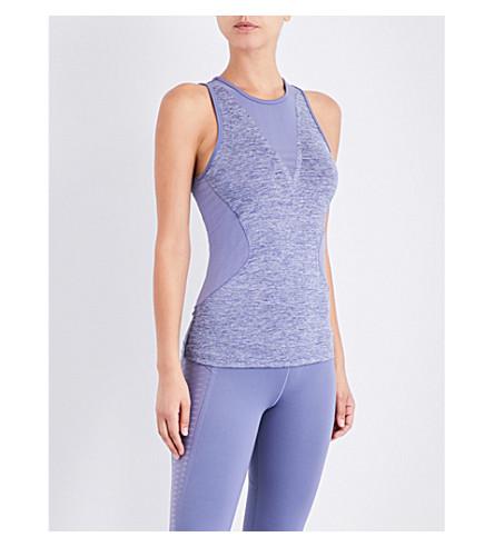 ADIDAS BY STELLA MCCARTNEY Training Check stretch-jersey top (Super+purple