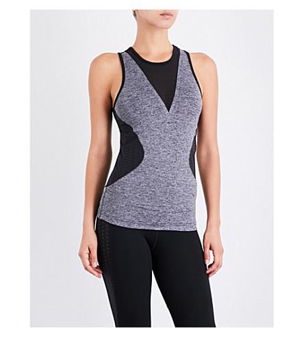 ADIDAS BY STELLA MCCARTNEY Contrast stretch-mesh training top (Black