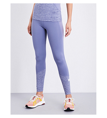 ADIDAS BY STELLA MCCARTNEY Training Ultimate Check stretch-jersey leggings (Super+purple