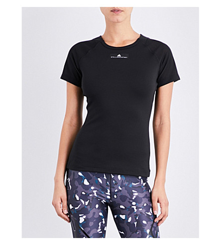 ADIDAS BY STELLA MCCARTNEY Training stretch-jersey T-shirt (Black