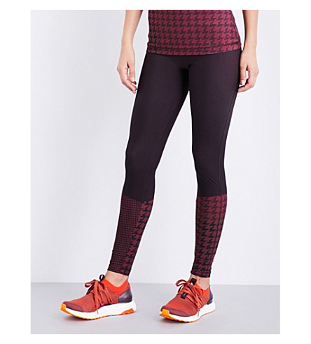 ADIDAS BY STELLA MCCARTNEY Training Miracle Sculpt stretch-jersey leggings (Dark+burgundy/legend+red