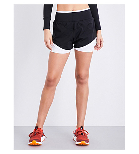 ADIDAS BY STELLA MCCARTNEY Training Climachill stretch-jersey shorts (Black/white