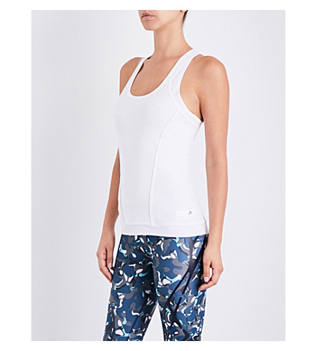ADIDAS BY STELLA MCCARTNEY Fitted stretch-jersey tank top (White