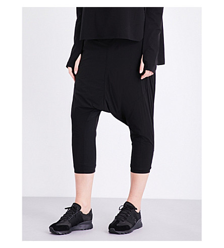 Y-3 SPORT Approach dropped-crotch shell trousers (Black