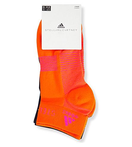 ADIDAS BY STELLA MCCARTNEY Pack of two low-cut striped socks (Radiant+orange