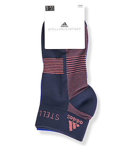 ADIDAS BY STELLA MCCARTNEY Pack of two low-cut striped socks (Legend+blue