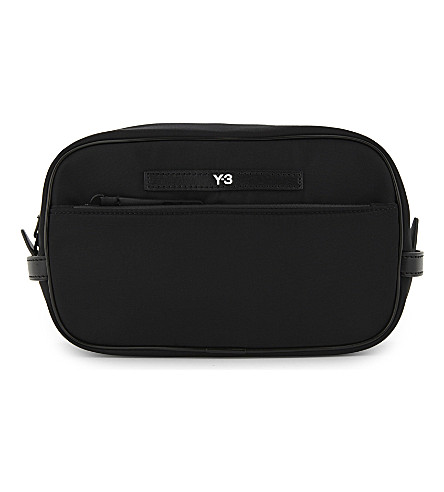 Y3 Necessaire wash bag (Black