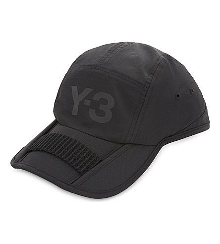 Y3 Foldable nylon baseball cap (Black