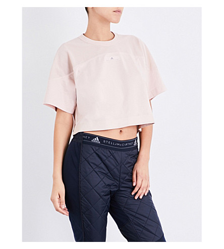 ADIDAS BY STELLA MCCARTNEY Essentials jersey cropped top (Pearl+rose