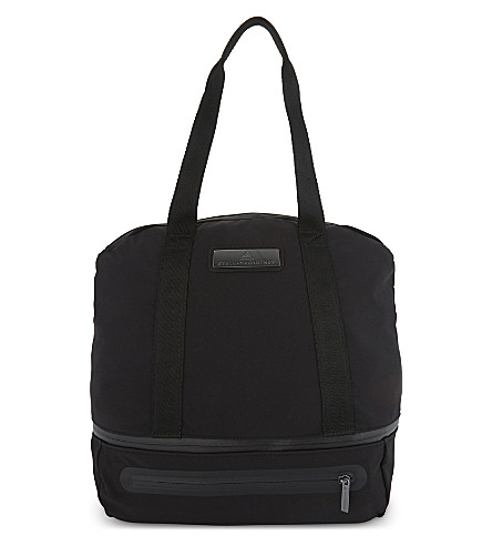 ADIDAS BY STELLA MCCARTNEY Iconic nylon duffle bag (Black