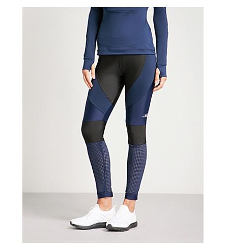 ADIDAS BY STELLA MCCARTNEY Run stretch-jersey leggings (Black+collegiate+navy